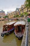 Barco Quay de Singapore Foto de Stock