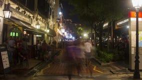 Barco Quay de Timelapse Singapur metrajes