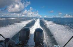Barco que apresura Fotos de archivo libres de regalías