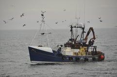 Barco rastreador Pittenweem Escocia Reino Unido Fotos de archivo libres de regalías