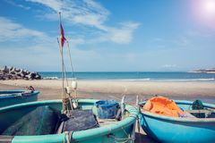 Barco redondo de Tradicional Vietnam fotos de archivo
