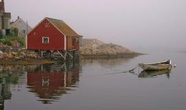 Barco a remos, angra de Peggy Foto de Stock