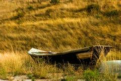 Barco a remos de madeira velho Fotos de Stock Royalty Free