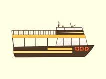 Barco retro do curso da cor Fotografia de Stock