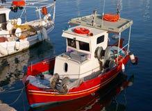 Barco rojo Imágenes de archivo libres de regalías