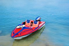 Barco rojo de la velocidad Fotografía de archivo