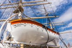 Barco salva-vidas de Dar Pomorza Fotografia de Stock Royalty Free
