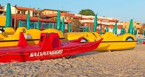 Barco salva-vidas vermelho Imagem de Stock Royalty Free