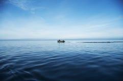 Barco at-sea Imagens de Stock Royalty Free