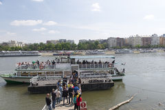 Barco Sightseeing, Budapest Foto de Stock
