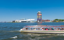 Barco sightseeing de Amsterdão Fotografia de Stock Royalty Free