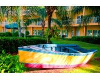 Barco soleado Fotografía de archivo