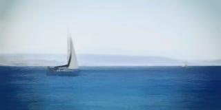 Barco solo watercolor Foto de archivo