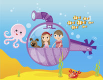 Barco submarino Imagem de Stock Royalty Free