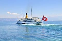 Barco suizo de la excursión imagen de archivo