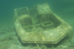 Barco Sunken Imagenes de archivo