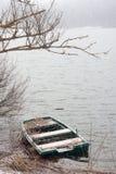Barco Sunken Fotos de archivo
