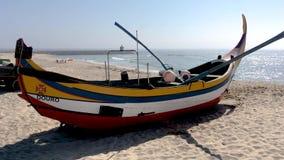 Barco típico de Arte Xavega almacen de video
