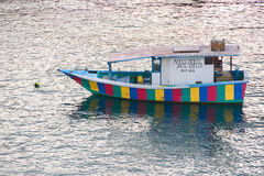 Barco típico - ilha de Tobago - mar das caraíbas Imagens de Stock Royalty Free
