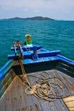 Barco tailandés del puerto Imágenes de archivo libres de regalías