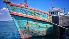 Barco tailandés en samet de la KOH Foto de archivo