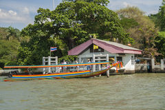 Barco tradicional em Banguecoque Imagens de Stock Royalty Free
