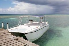 Barco turístico da velocidade foto de stock