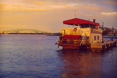 Barco a vapor em Jacksonville Florida EUA fotos de stock royalty free