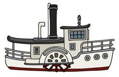 Barco a vapor velho engraçado da pá Foto de Stock Royalty Free