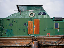 Barco velho em Wilhelmshaven fotografia de stock royalty free