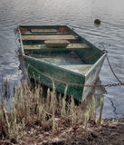 Barco velho na costa HDR Fotografia de Stock