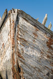 Barco velho na maré baixa em França, Normandy Fotografia de Stock