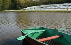 Barco verde Fotografía de archivo
