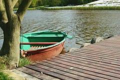Barco verde Fotos de archivo
