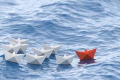Barco vermelho do líder Imagens de Stock Royalty Free