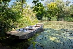 Barco viejo de Fising Fotos de archivo