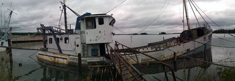 Barco viejo de la ruina Fotografía de archivo libre de regalías