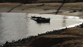 Barco viejo de par en par Imagenes de archivo