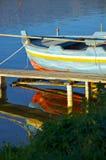 Barco viejo en el lago Fotos de archivo libres de regalías