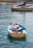 Barco viejo por completo del agua Fotos de archivo libres de regalías