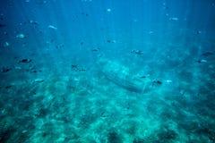 Barco viejo subacuático Foto de archivo