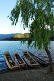 Barco y árbol Fotos de archivo libres de regalías