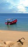 Barco y ancla Foto de archivo libre de regalías