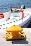 Barco y puerto Foto de archivo libre de regalías