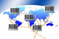 barcode świat ilustracji
