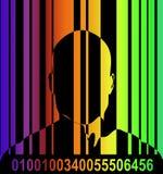Barcode и человек 7 Стоковое фото RF
