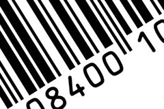 Barcode. Close up of barcode - white black royalty free stock images