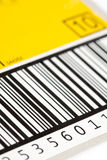 Barcode. Close up of barcode - black white royalty free stock images