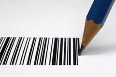Barcode. A barcode can also be drawn with a pencil stock image