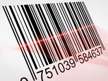 Barcode. With laser on it royalty free illustration